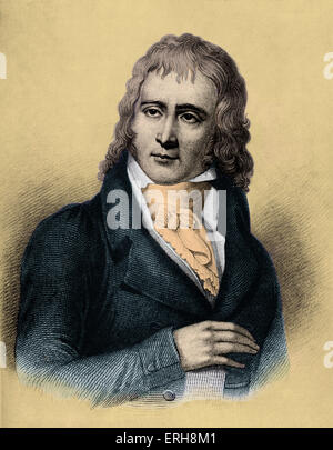 Benjamin Constant in 1800.  Henri-Benjamin Constant de Rebecque, Swiss-born,  writer and French politician.  25 - Stock Photo
