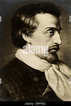 HEINE, Heinrich German poet, 1797-1856. - Stock Photo