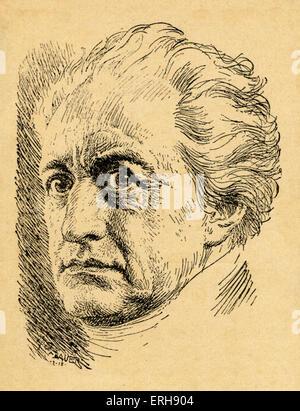 GOETHE, Johann Wolfgang von German Poet, Dramatist, Novelist and Philosopher, 1749-1832 - Stock Photo
