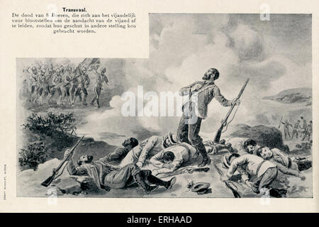 Death of Eight Boer Soldiers at the hands of British colonial forces during the Second Boer War (1899-1902) in Transvaal. - Stock Photo