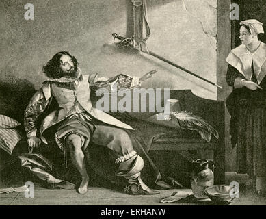 Charles Dickens (1812-1870) acting in a performance of Ben Jonson's play, 'Every Man in his Humour' (first performed - Stock Photo