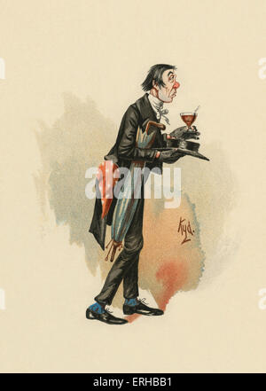 The Pickwick Papers by Charles Dickens (1836). Illustration of Mr. Stiggins. Caption reads: '[Mr. Stiggins] walking - Stock Photo
