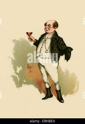 The Pickwick Papers by Charles Dickens (1836). Illustration of Mr Pickwick. Caption reads:'Mr. Pickwick was the - Stock Photo
