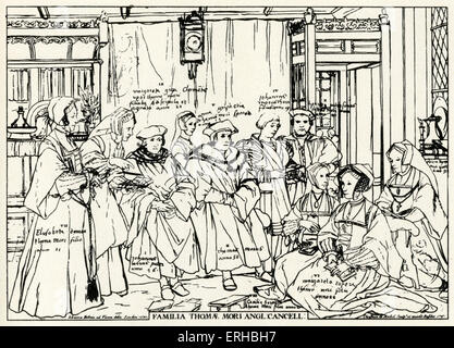 Thomas More surrounded by his family. Sir Thomas More (7 February 1478 – 6 July 1535) - English lawyer, social philosopher, - Stock Photo