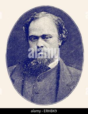 Dante Gabriel Rossetti (12 May 1828 – 9 April 1882). 19th century English poet, illustrator, painter and translator. - Stock Photo