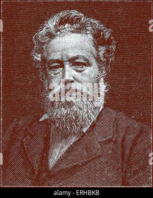 William Morris (24 March 1834 – 3 October 1896). 19th century English textile designer, artist, writer, . Founder - Stock Photo