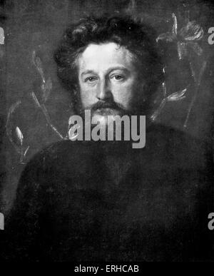 William Morris, portrait. English textile designer, artist and writer. Founder of the English Arts and Crafts Movement. - Stock Photo