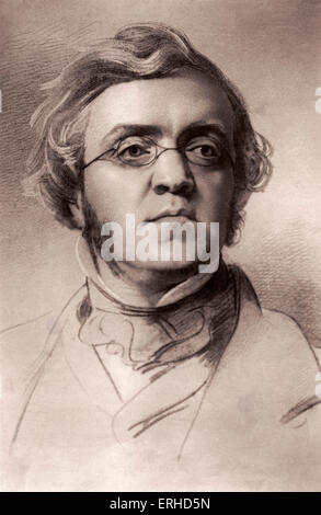 William Makepeace Thackeray - English novelist born in India. 1811-1863. Author of Vanity Fair and other popular - Stock Photo
