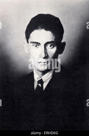 Franz Kafka - portrait of Czech writer. 3 July 1883 - 3 June 1924. ( Brod as Kafka's executor after his death issued - Stock Photo