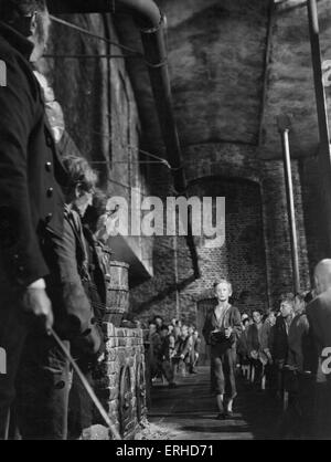 Oliver Twist. film still from 1948 Rank Film production of Charles Dickens'  book.  Oliver asks for more. British - Stock Photo