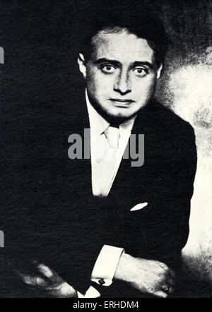 Franz Werfel photographed by Hugo Erfuth Czech poet, playwright, and novelist, 1890-1945.  Alma Mahler connection. - Stock Photo