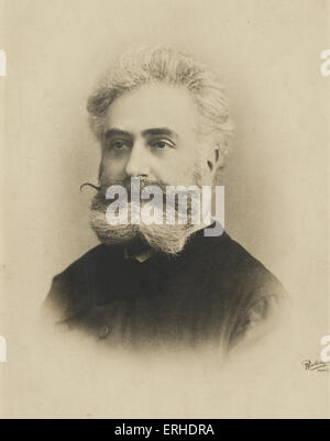 Max Nordau, Hungarian writer and philosopher, co-founder of the World Zionist Organisation. 1849 -1923 Reutlinger, - Stock Photo
