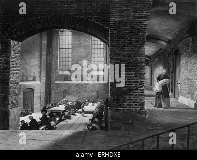 Oliver Twist film still from 1948 Rank Film production of Charles Dickens' book. British novelist, 7 February 1812 - Stock Photo