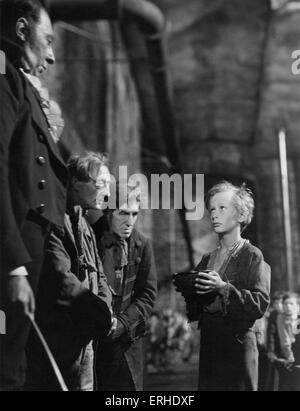 Oliver Twist. film still from 1948 Rank Film production of Charles Dickens  Oliver asks for more. British novelist, - Stock Photo