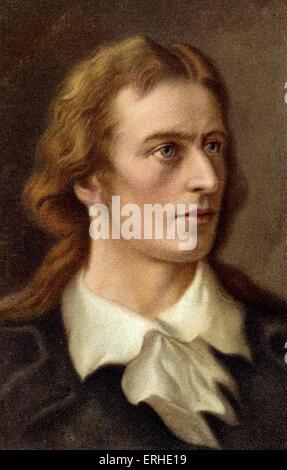 Friedrich von Schiller - portrait German poet and dramatist 1759-1805 - Stock Photo