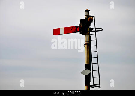 An old type railway signal - Stock Photo