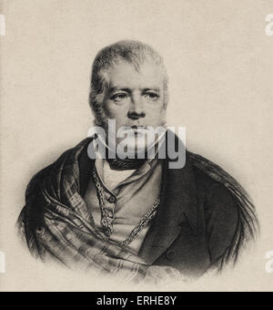 Sir Walter Scott, portrait. English novelist and poet 1771-1832. - Stock Photo