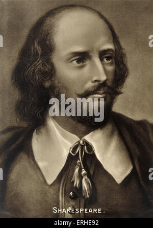 William Shakespeare, portrait. English playwright 1564-1616 - Stock Photo