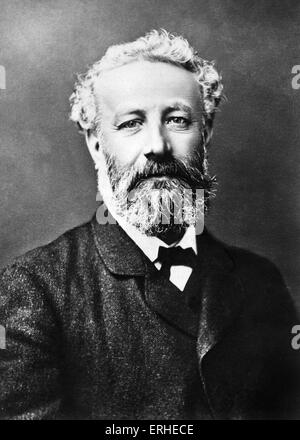 Jules Verne - portrait. French writer 1828-1905. Author of ' Around the world in 80 days', 'Journey to the centre - Stock Photo