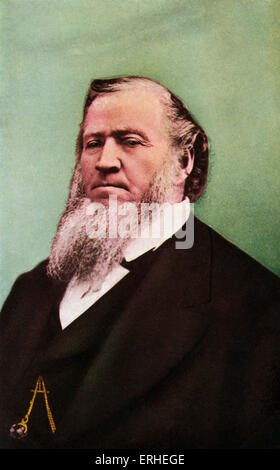 Brigham Young - US Mormon leader and founder of Salt Lake City in Utah. 1801-1877 - Stock Photo
