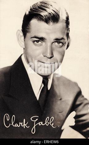 Clark Gable, portrait. American film actor 2 February 1901 - 16 November 1960. Publicity still. - Stock Photo