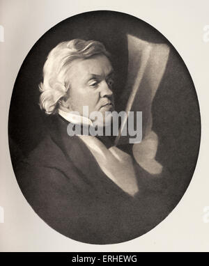 William Makepeace Thackeray - Portrait of the English novelist born in India without glasses. 1811-1863. Author - Stock Photo