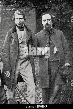 Gabriel Charles Dante Rossetti - English poet, painter and translator together with John Ruskin - English author - Stock Photo