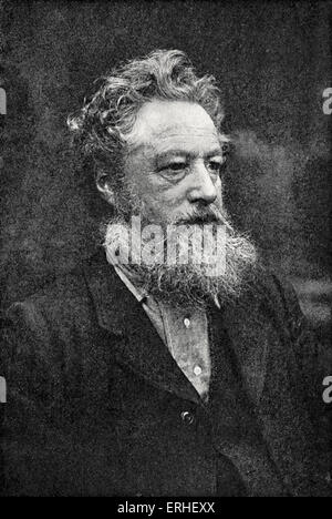 William Morris - portrait. English designer and craftsman 1834-1896 - Stock Photo