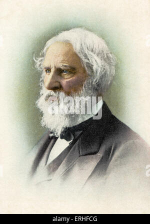 Henry Wadsworth Longfellow- American poet, 27 February 1807- 24 March 1882. - Stock Photo