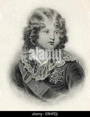 Napoleon II (Francois Charles Joseph) - portrait as a child.  Declared King of Rome and Duke of Parma but never - Stock Photo