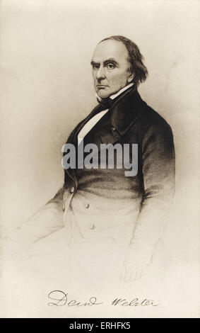 Daniel Webster - portrait - American senator and Secretary of State 18 January 1782 - 24 October 1852 - Stock Photo