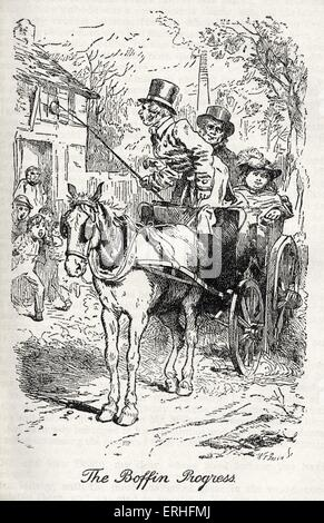 Charles Dickens' 'Our Mutual Friend'. Illustration from chapter ix,book I 'The Boffin Progress'. English novelist, - Stock Photo
