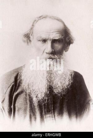 TOLSTOY,  Leo Nikolaevich Russian Writer (1828-1910) - Stock Photo