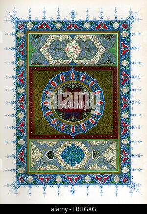 Lalla Rookh : An Oriental Romance - illuminated title page for the book by Irish poet and writer Thomas Moore. 28 - Stock Photo