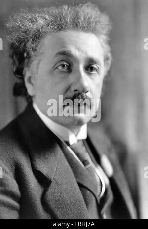 Albert Einstein - portrait of  the German theoretical physicist. Noble prize winner, 1921. 14 March 1879 – 18 April - Stock Photo
