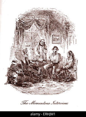 David Copperfield by Charles Dickens. Illustration by Phiz (Hablot Knight Browne). Caption reads: The Momentous - Stock Photo
