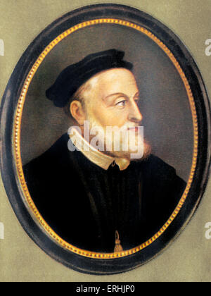Karl V. Portrait of the Kaiser. Holy Roman Emperor. After a painting by Titian. 24 February 1500 – 21 September - Stock Photo