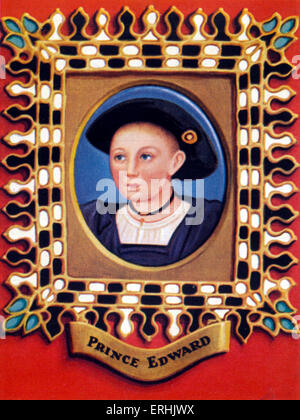 Edward VI. Portrait of the King of England as a young prince. 12 October 1537 – 6 July 1553 - Stock Photo