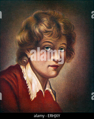 Rembrandt Harmenszoon van Rijn. Portrait of the Dutch painter as a youth. Known as Rembrandt 15 July  1606 or 1607– - Stock Photo