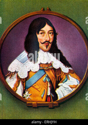 Louis XIII. Portrait of the King of France. 27 September  1601 – 14 May  1643 - Stock Photo