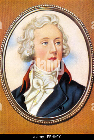 William Pitt the Younger. Portrait of the British Prime Minister. After a miniature by Horace Hone. 28 May 1759–23 - Stock Photo