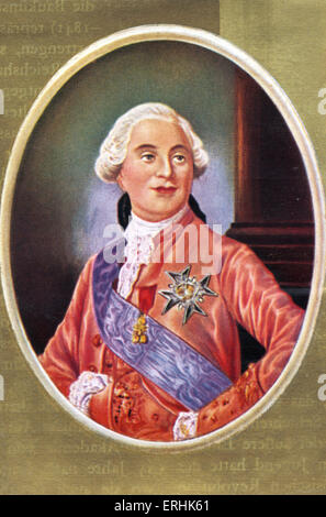 Louis XVI. Portrait of the King of France. 23 August 1754– 21January 1793 - Stock Photo