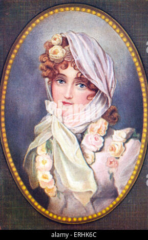 Marie Louise. Portrait of the second wife of Napoléon Bonaparte and Empress of France. 12 December 1791 – 17 December - Stock Photo