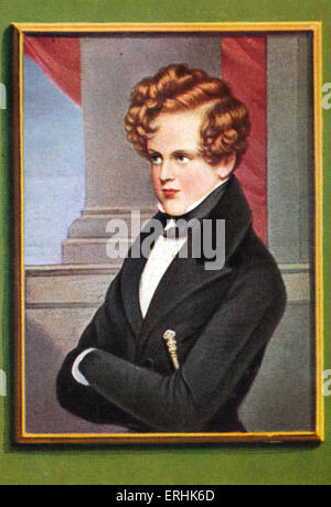 Napoleon II, Duke of Reichstadt. Portrait. Son of Napoleon Bonaparte, and briefly the second Emperor of France. - Stock Photo