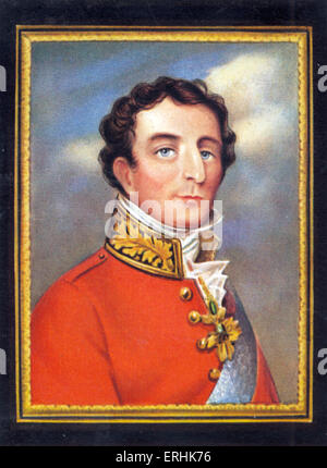 Arthur Wellesley, 1st Duke of Wellington. Portrait of the British soldier ans statesman. 1 May 1769 – 14 September - Stock Photo