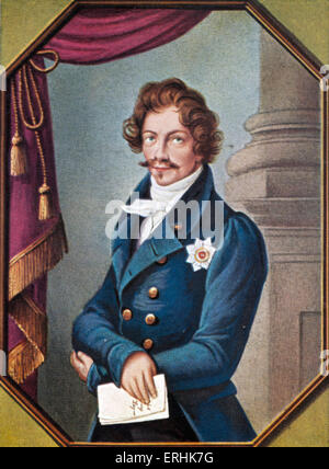 Ludwig I. Portrait of the King of Bavaria. 25  August 1786 –29 February 1868 - Stock Photo