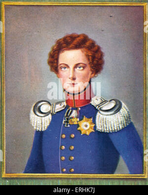Frederick William IV (Friedrich Wilhelm IV). Portrait of the King of Prussia as a young man. After a miniature by - Stock Photo