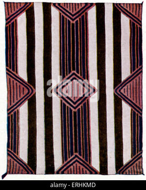 Native American chief 's blanket - woven by the Navajo tribe of New Mexico. Indian. American Indians. Artist unknown. - Stock Photo
