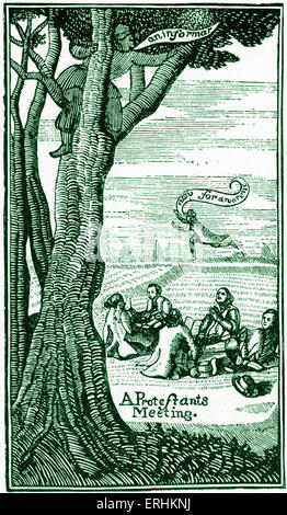 John Bunyan - illustration from the English writer 's book ''The Life and Death of Mr. Badman' (1680). JB: 28 November - Stock Photo