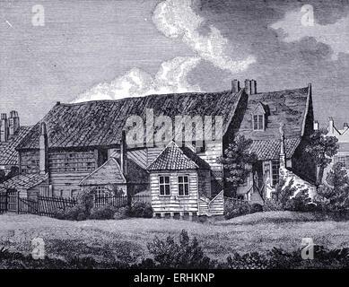 John Bunyan - the English writer 's meeting house, Southwark. JB: 28 November 1628 - 31 August 1688. English religious - Stock Photo